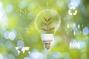 Save earth concept - fototapety na wymiar