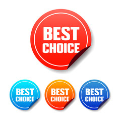 Best Choice Round Stickers
