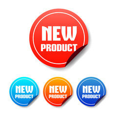 New Product Round Stickers