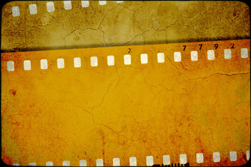 Vintage sepia film strip frame