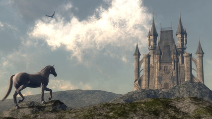 Arriving at the castle - 3D render