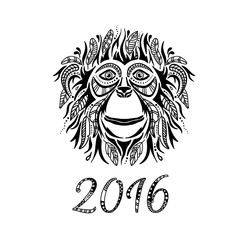 Happy new year 2016. Year Of The Monkey.