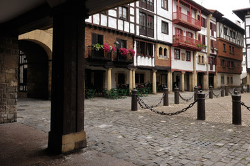 Square of Hondarribia, Fuenterabia,Basque Contry, Spain