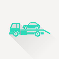 Tow car evacuation icon