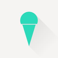 Vector ice-cream icon. Food icon. Eps10