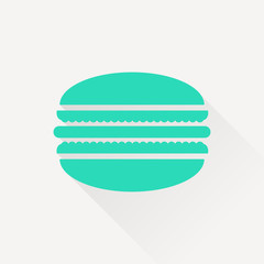 Vector macaroon icon. Food icon. Eps10