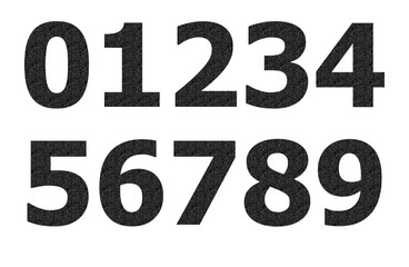 Black matrix pattern on number
