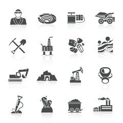 Mining Icons Black