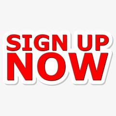 Sign Up Now Red Sign