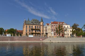 Fotobehang Ostrów Tumski - najstarsza dzielnica Wrocławia