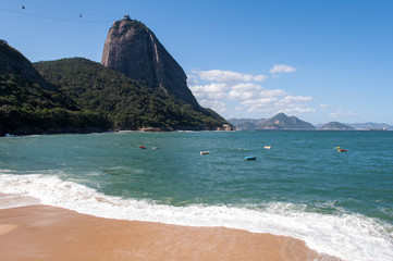Wall Mural - The Red Beach and the Sugarloaf Mountain in Rio de Janeiro