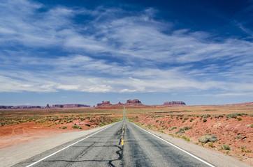 Fototapeten Route 66 Straße Wüste Himmel USA
