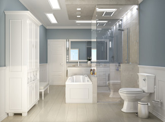 Classic modern bathroom with wc