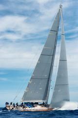 Fototapete - sail boat sailing in regatta