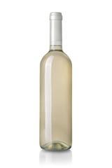 Weißwein isoliert auf weißem Hintergrund