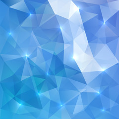 Blue abstract vector shining ice background