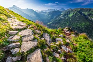 Wall Mural - Tatras mountains at sunrise