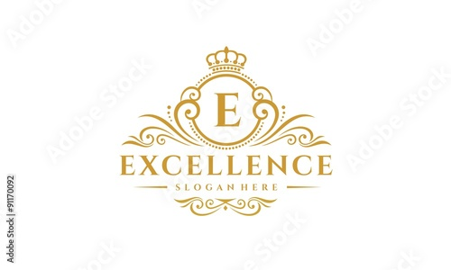 excellence logo suitable for clothes shop fashion