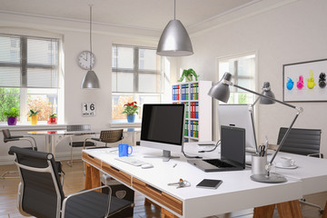 Büro mit zwei Schreibtischen - Arbeitszimmer
