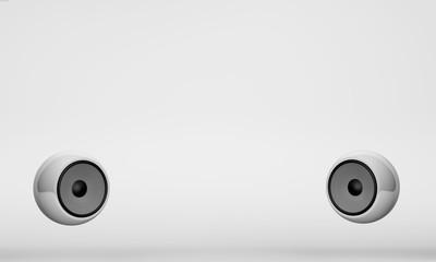 white design speaker