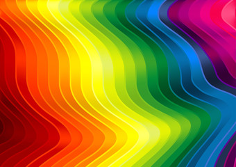 Rainbow Striped Texture - Background Illustration, Vector