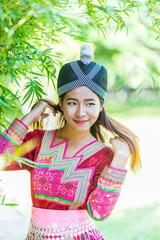 Mhong hill tribe woman