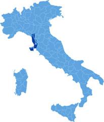 Map of Italy, Livorno
