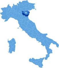 Map of Italy, Ferrara