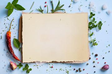 Art italian homemade menu food background; restaurant week