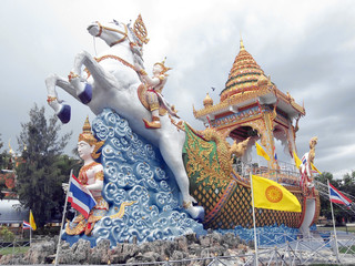 Buddha statues in the Wat Chaichumphon Chanasongkhram