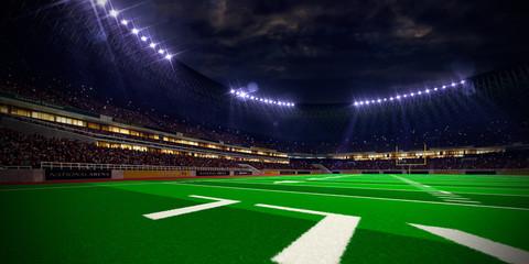 Night stadium arena Football field