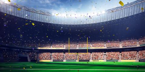 Football Arena Stadium Day championship win. blue toning