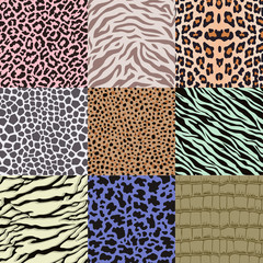 repeated wildlife animal skin pattern