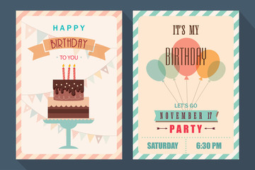 Birthday card and invitation set 