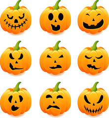 halloween scary pumpkins of illustration.
