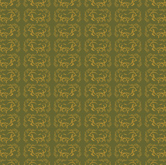 abstract horse pattern