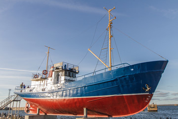 small boat brought ashore