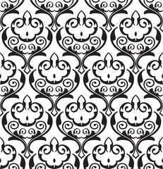 Baroque swirll seamless pattern