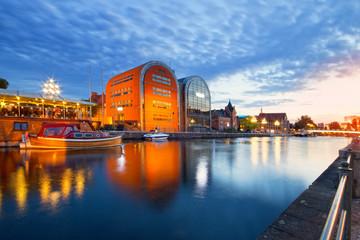 Obraz Bydgoszcz widok miasta o zmierzchu - fototapety do salonu