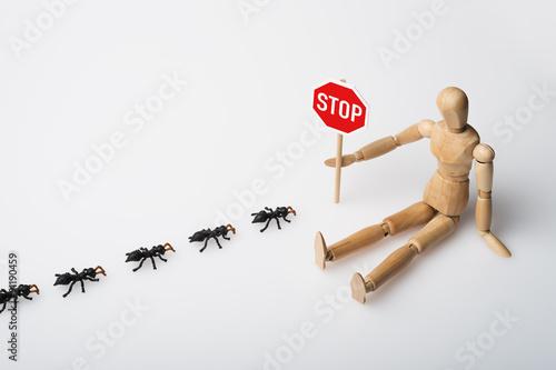 ameisenstra e stopschild dummy stockfotos und lizenzfreie bilder auf bild 91190459. Black Bedroom Furniture Sets. Home Design Ideas