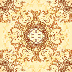 Ornate vintage vector pattern in mehndi style