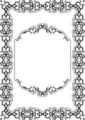 The ornate art frame