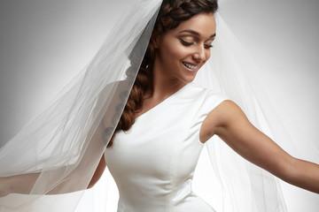 happy dancing bride