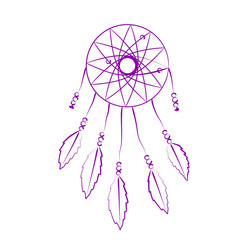 Sketched dream catcher.
