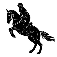 horse rider, vector illustration