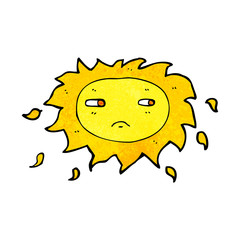 cartoon sad sun