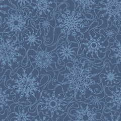 Seamless pattern with snowflakes.