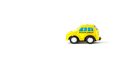 Caricature of a school bus