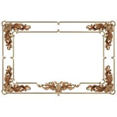 Gold frame. Isolated over white background