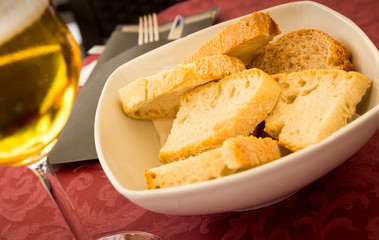 Fresh slices of bread